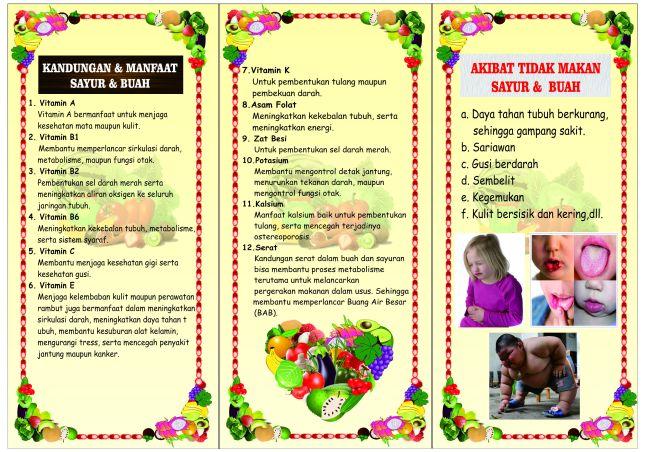 manfaat sayur dan buah